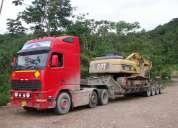 Transporte de  equipos pesados en cama baja #995034160