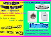 Servicio tecnico lavadoras whirlpool 7265565 lima