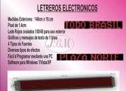 Letrero electrónico de mensajes, anuncios