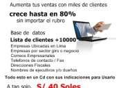 Lista de clientes base de datos aumenta tus ventas