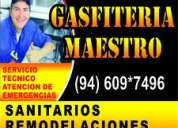 Gasfitero a domicilio servicio profecional rpc 987131301   51+609+7496
