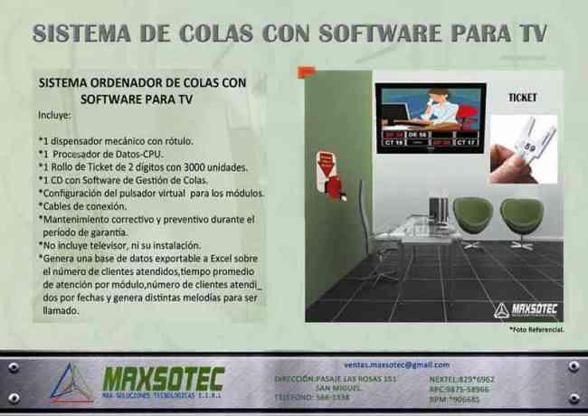 MAXSOTEC E.I.R.L-Sistemas con Software para TV y Recepción