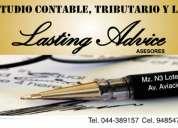 Estudio contable tributario y laboral lasting advice asesores