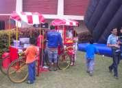 Eventos infantiles  carritos snack pop corn algodon helados hamburguesas choripan