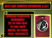 Nextel:147*6989 unico servicio tecnico de secadoras electrolux