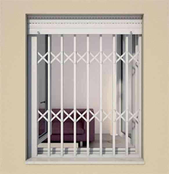 Rejas para ventana en forma plegada en aluminio lima hogar jardin muebles ate - Rejas de aluminio ...
