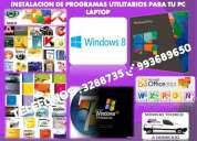 Servicio tecnico computadoras laptops programas full,redes,a domicilio