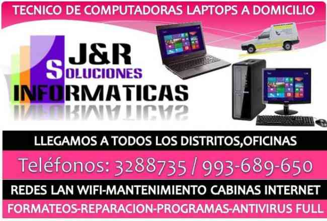 Tecnico de Computadoras,laptops,redes,cabinas,a Domiclio