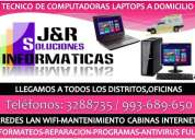 Tecnico de pcs laptops redes lan wifi,formateos,a domicilio