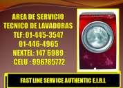Servicio tecnico de lavadoras lg tromm tlf:446-4965