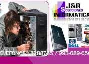 Servicio tecnico a computadoras,laptops,redes,formateos,a domicilio