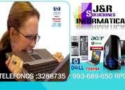 servicio tecnico a computadoras laptops redes cableados,formateos,a domicilio