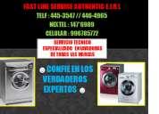 Servicio tecnico de lavadoras lg tlf:445-3547