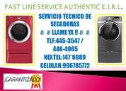 Servicio tecnico de secadoras lg telf:445-3547