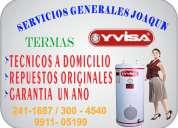Servicio tecnicos 2411687 termas yvisa  electricas reparacion