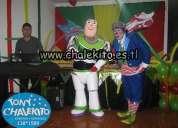 Show de buzz lightyear y payasito chalekito para fiestas infantiles