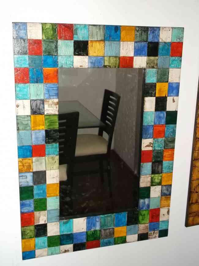 Espejos y cuadros decorativos elaborados a manos y en for Disenos de espejos decorativos