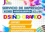 Impresiones offset - serigrafia - diseÑo grafico
