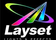 Layset. luces profesionales, efectos y pantallas led