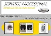 Servicio tecnico lavadoras whirlpool 2565734 lima
