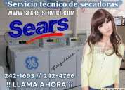 ¿contact sears service?242-1693// secadoras (( bosch -- general electric ??
