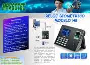 Reloj biometrico control de personal / modelo h8/maxsotec