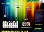 Separadores de fila /cromado,mixto,pop pvc/maxsotec a su servicio/solicitelos