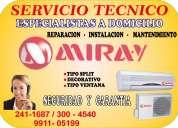 Servicio tecnico  miray aire acondicionado 2411687