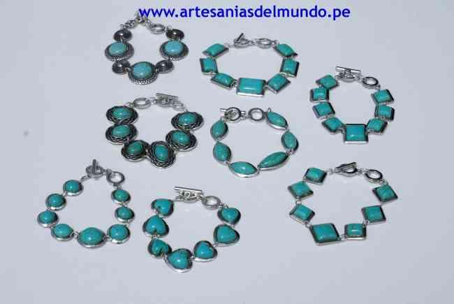 Pulsera turquesa bisuteria etnica y regalos promocionales originales , Lima , Joyas , Relojes , miraflores