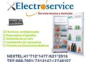 ∞servicio técnico  de refrigeradores mabe /7313147