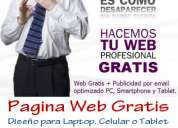 Páginas web a s/. 250 - GRATIS 1 video promocional HD, Hosting y Dominio .com
