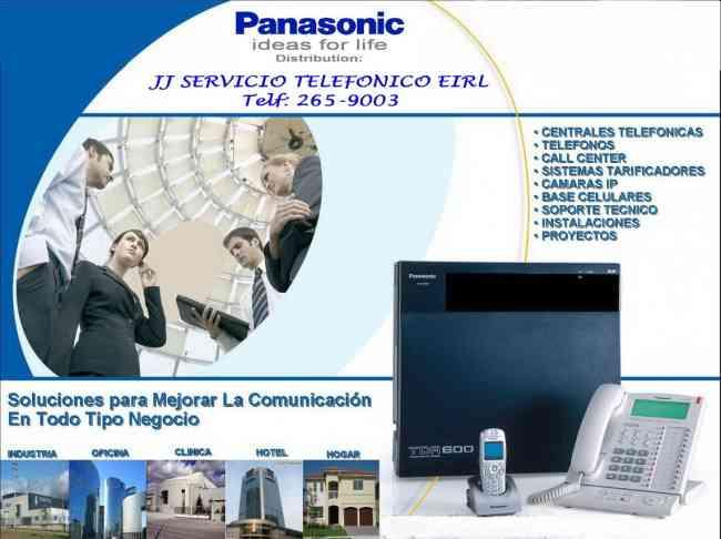 PANASONIC (DISTRIBUIDOR AUTORIZADO) CENTRAL TELEFONICA – TELÉFONO