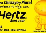 Hertz chiclayo - piura
