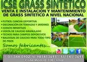 Fútbol en general, grass artificial, instalación y mantenimiento
