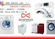 Servicio tecnico lavadoras daewoo 6649573 -lima*