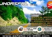 Hoy sale promociones asfalticas / asfalto 60-70