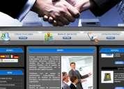 DiseÑo de paginas web administrables  y hosting