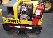 Rodillo compactador   chupetero rd7 doble rolla de 1 tn