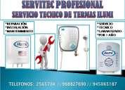 2565734 servicio técnico termas ilumi reparación,mantenimiento lima