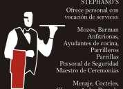 Mozos barman parrilleros azafatas meseros seguridad anfitrionas (99)423*7307