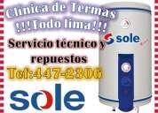 """Sole """"mantenimiento"""" 242-4766/ servicio tÉcnico de termas"""