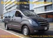 Alquiler vans hyundai h1 en lima - transporte turistico privado lima peru