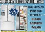 refrigeradoras  general electric  no frost servicio tecnico a domicilio