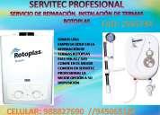 (6610178) servicio técnico termas rotoplas a gas y eléctricas en surco
