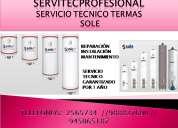 Servicio técnico  termas sole(6610178)reparación,mantenimiento en surco