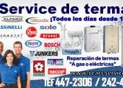 Fujiwara/ servicio tecnico de termas rotoplas 447-2306