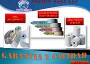 papel termico/rollos de tickets/papel autocopiativo