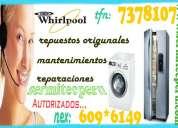 Cadena de servicios whirlpool ¡¡ tecnicos a domicilio !!