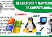 Reparacion de computadoras, laptop, soporte, diagnostico