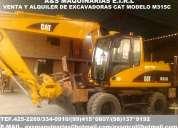 Ocasion venta y alquiler de excavadoras sobre ruedas marca cat con brazo excavador 4252269/415*0809